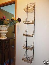 Hand Iron French Style 6 Tier Wall Shelf Rack
