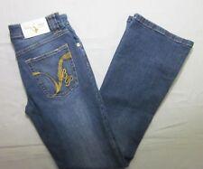 Baby Phat Womens Denim Jeans Size 5 Regular Stretch Boot Cut Medium Wash EUC