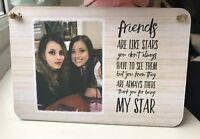 Personalised Wooden Sign Plaque Shabby Chic Gift Friend Photo Gift