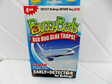 4 BUGGY BEDS BED BUG GLUE TRAPS Travel Hotel Dorm Home Cushions Cruise etc. USA