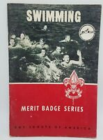 1966 Boy Scout Merit Badge Series Book - Swimming - BSA