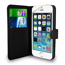iPhone SE 5 5S Case Black Premium Leather Flip Wallet Case Cover Pouch For iPhon