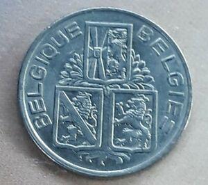 BELGIQUE - FANTASTIC HISTORICAL NICKEL one FRANCS, 1939 KM# 117.1