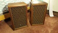 Vintage Pioneer CS-801 Pair- Wood Grain Speakers w/ Wood/Mesh Detachable Covers