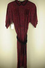 Vintage Plain Jane Femmes Rouge et Noir Géométrique 24.4ms Does 12.2ms ROBE
