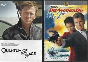 DVD: LOT OF 2  JAMES BOND...QUANTUM OF SOLACE-DIE ANOTHER DAY  BROSNAN-CRAIG