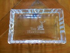 Tiffany & Co. Crystal Dresser Jewelry Trinket Box with Lid The Hartford Has Chip