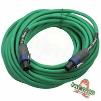 Speakon Cable Speaker Cords 50 FT – FAT TOAD 12 AWG DJ Wires Studio Audio Stage