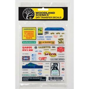 Woodland Scenics DT552 Assorted Business Signs, Dry Transfer Decals EZ to Apply