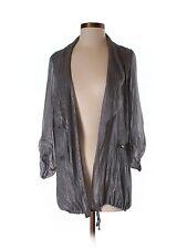 DVF Diane von Furstenberg Gray silver Cardigan/jacket/parka/shirt Size 2-4-6 S-M