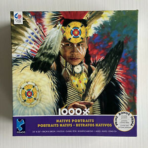 NATIVE PORTRAITS 1000 PIECE CEACO JIGSAW PUZZLE With Puzzle Poster #43360