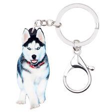 Acrylic Siberian Husky Dog KeyChains Ring For Women Bag Pet Pendant Jewelry Gift