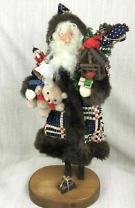 Vintage Christmas Decorations Handmade Wooden Santa Statue Figure Signed Ltd Ed