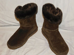 LAMO BROWN SUEDE SNOW BOOTS SIZE 9