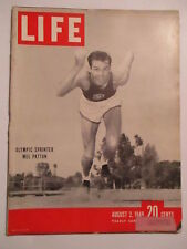 LIFE August 2,1948 Olympic Sprinter Mel Patton Western Union The Andes Great ADS