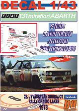 DECAL 1/43 FIAT 131 ABARTH SIMO LAMPINEN 1000 LAKES R. 1978 5th (08)