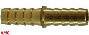 "Anderson Metals 57014-08 Brass Hose Mender Splicer Union 1/2"" Barb x 1/2"" Barb"