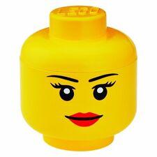 Lego Storage Head Brick Container Girl Small