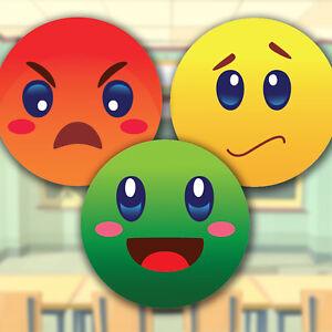 100 Traffic Light Behaviour Mixed Stickers Teacher School Children Reward Labels