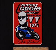 1978 ISLE OF MAN TT MIKE HAILWOOD STICKER Decal Vintage Superbike Ducati Suzuki