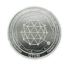 Quantum QTUM Crypto currency. 1 oz. 999 Silver Plated Collectible Novelty Coin