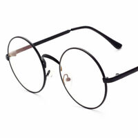 Retro Vintage Round Eyeglasses Metal Frame Clear Lens Glasses Nerd Spectacles