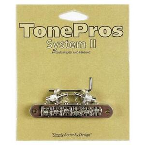 TonePros Nashville Tune-O-Matic Locking Bridge Nickel Roller Saddles TP6R-N