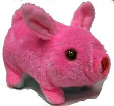 PINK FUZZY WALKING OINKING TOY MOVING PIG play pet battery operated LIGHT EYES