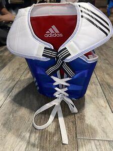 Adidas Chest Protector Guard Karate WTF Taekwondo Equipment Blue Red Sz 1 Youth