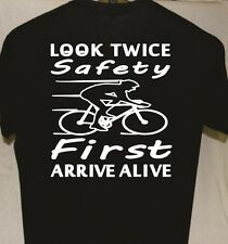 Smart Bike Cycling T shirt Glow in the dark light reflect Great Gift for Friend