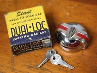 Vintage Locking Gas Tank Cap GM Chevy Dodge DeSoto Plymouth Car Accessory NOS