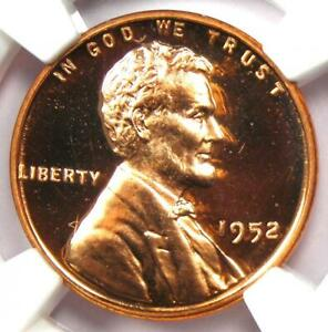 1952 Proof Lincoln Wheat Cent Penny 1C - NGC PR67 RD Cameo (PF67) - $2,000 Value