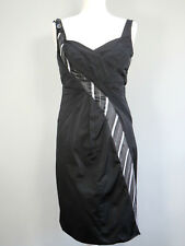 KAREN MILLEN Black Strappy Dress With Tie Size 10 Party Quirky Womens I847