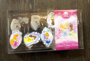 Disney Princess Metal Shower Curtain Hooks-Cinderella-Belle-Tiana-Aurora Set