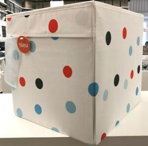 IKEA DRÖNA 4 Set Bunt gepunktet faltbare Box Kallax Regal Aufbewahrung Kiste DHL