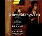 Sir Neville Marriner - Brahms / Symphonies Nos. 1 & 2 - 2CD - MINT