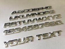 1x Chrome Individual Letter 3D Emblem Badge Letter Number alphapet logo truck