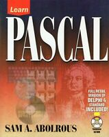 ITHistory (2000) BOOK: Learn Pascal (Abolrous) W/Delphi 4 Software B4 Q