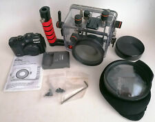 UNDERWATER PHOTO SETUP CANON G12 IKELITE HOUSING AND WD-4 WIDE ANGLE DOME DIVING