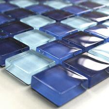 Glasmosaik Fliesen Blau Mix 23x23x8mm