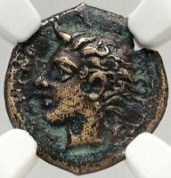 KATANAE SICILY Authentic Ancient 415BC Original Greek Coin RIVER GOD NGC i83558