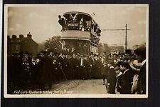 Rawdon & Yeadon - The First (Tram) Car - real photographic postcard