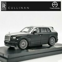 Time Model 1:64 Rolls Royce SUV CULLINAN Mansory Black Silver Diecast Model Car