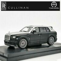 Time Model 1:64 Rolls Royce SUV CULLINAN Mansory Black Silver Diecast Model Car