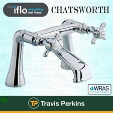 iFlo Chatsworth Traditional *SOLID BRASS* Bath Filler Mixer Tap  *WRAS Approved*