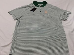 NWT Nike Golf Polo Shirt Short Sleeve Miami Marlins Baseball Green White 2XL