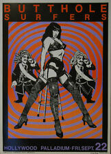KOZIK BUTTHOLE SURFERS BETTY PAGE ROCK POSTER SIGNED