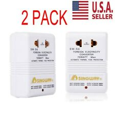 110V to 220V Step-Up & Down Voltage Converter 70W Transformer Travel 2pack
