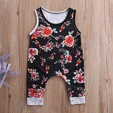 Neugeborene Kleinkinder Baby Mädchen Blumenmuster Body Strampler Sommer Outfits