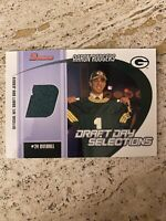 MVP 2005 Bowman Football Rookie RC Draft Day Jersey Relic Aaron Rodgers Packers